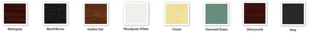 upvc window colour chart