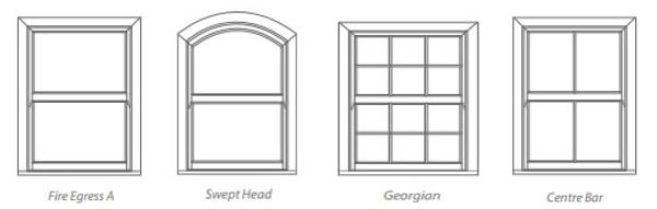 4 Sash Window Designs